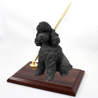 Poodle Black w/Sport Cut Pen Set