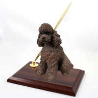 Poodle Chocolate w/Sport Cut Pen Set