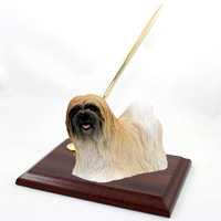 Lhasa Apso Brown Pen Set