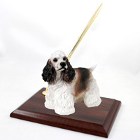 Cocker Spaniel Brown & White Pen Set