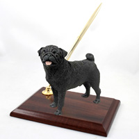 Pug Black Pen Set