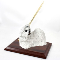 Shih Tzu White Pen Set