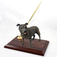 Staffordshire Bull Terrier Brindle Pen Set