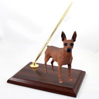 Miniature Pinscher Red & Brown Pen Set