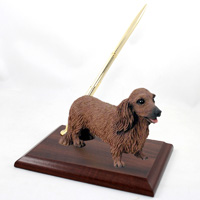 Dachshund Longhaired Red Pen Set
