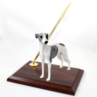 Whippet Gray & White Pen Set