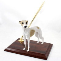 Whippet Tan & White Pen Set
