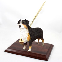 Australian Shepherd Tricolor w/Docked Tail Pen Set