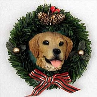 Golden Retriever Wreath Ornament