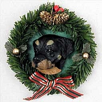 Rottweiler Wreath Ornament