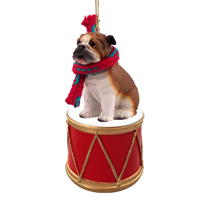 Bulldog Drum Ornament