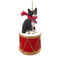 Chihuahua Black & White Drum Ornament