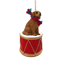 Golden Retriever Drum Ornament