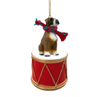 Boxer w/Uncropped Ears Drum Ornament