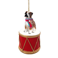Boxer Brindle w/Uncropped Ears Drum Ornament