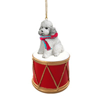Poodle Gray w/Sport Cut Drum Ornament