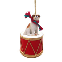 Jack Russell Terrier Brown & White w/Smooth Coat Drum Ornament