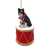 Alaskan Malamute Drum Ornament