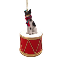 Rat Terrier Drum Ornament