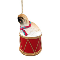 Lhasa Apso Brown Drum Ornament