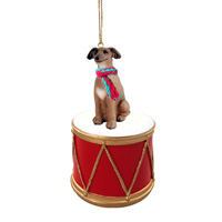 Italian Greyhound Drum Ornament