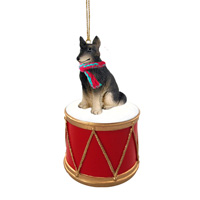 Belgian Tervuren Drum Ornament