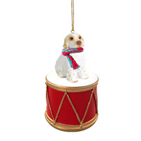 Clumber Spaniel Drum Ornament