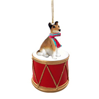 Collie Smooth Hair Drum Ornament