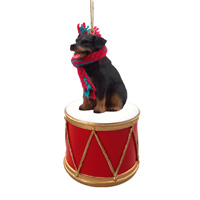 Rottweiler Drum Ornament