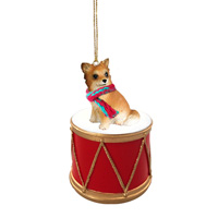 Chihuahua Longhaired Drum Ornament
