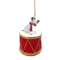 Sealyham Terrier Drum Ornament