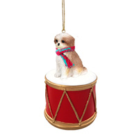 Shih Tzu Tan w/Sport Cut Drum Ornament