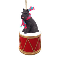 Schnauzer Black Drum Ornament