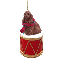 Cocker Spaniel Brown Drum Ornament