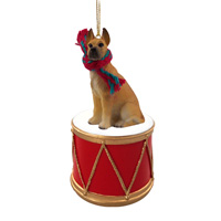 Great Dane Fawn Drum Ornament