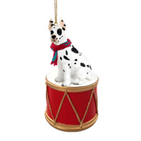 Great Dane Harlequin Drum Ornament