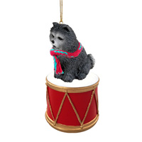 Chow Blue Drum Ornament
