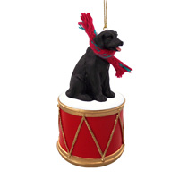 Labrador Retriever Black Drum Ornament
