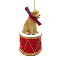 Labrador Retriever Yellow Drum Ornament