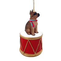 Boxer Tawny Drum Ornament
