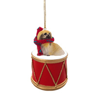 Pekingese Drum Ornament