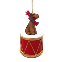 Airedale Drum Ornament
