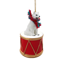 Samoyed Drum Ornament