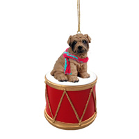 Shar Pei Brown Drum Ornament