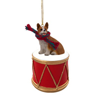 Welsh Corgi Pembroke Drum Ornament