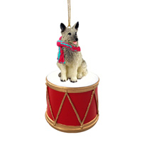 Norwegian Elkhound Drum Ornament