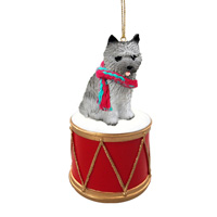 Cairn Terrier Gray Drum Ornament