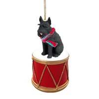 Schnauzer Giant Black Drum Ornament