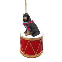 Gordon Setter Drum Ornament