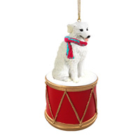 Kuvasz Drum Ornament